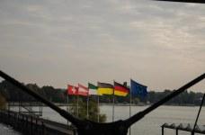 some flags at Friedrichshafen harbour