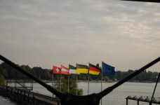 some flags at Friedrichshafen harbour